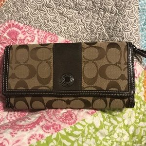 Coach Wallet with Checkbook Insert